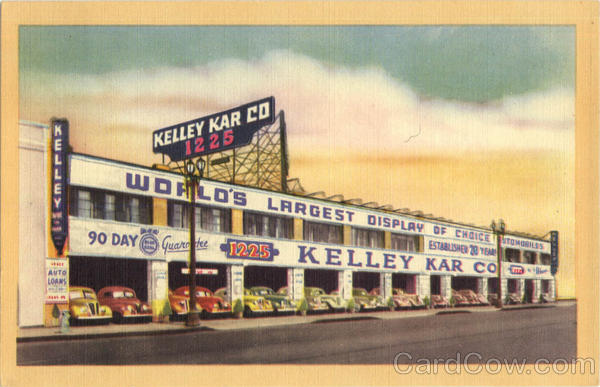 Kelly Blue Book: Kelley Kar Co Automobile Dealership Los Angeles California