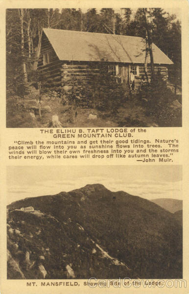 The Elihu B. Taft Lodge of the Green Mountain Club Mt. Mansfield Vermont