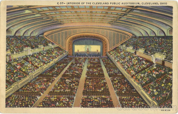 Interior of the Cleveland Public Auditorium Ohio