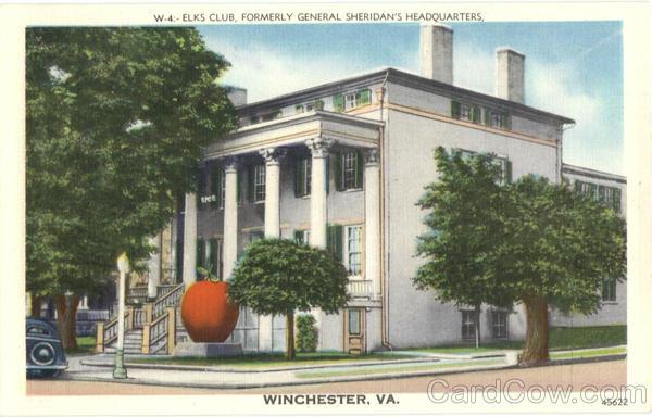 Elks Club, Formerly General Sheridan's Headquarters Winchester Virginia