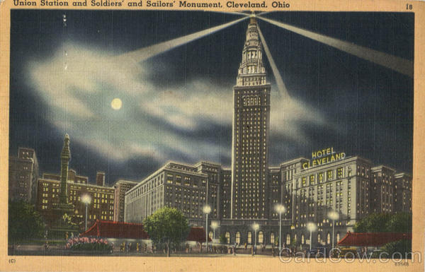 United Station and Soldiers' and Sailors' Monument Cleveland Ohio