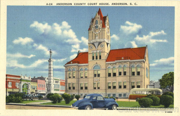 Anderson County Court House South Carolina