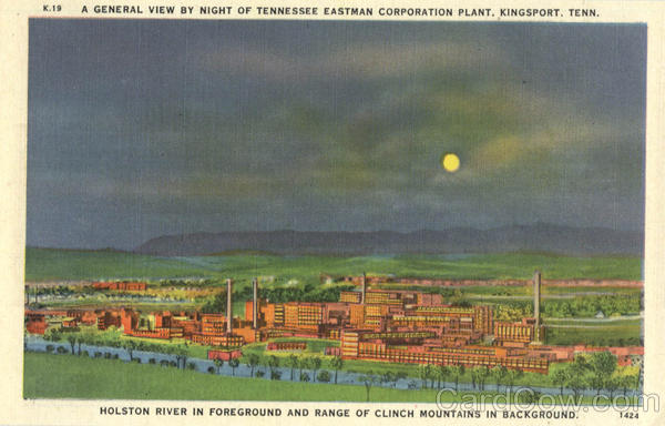 A General View by Night Tennessee Eastman Corporation Plant Kingsport