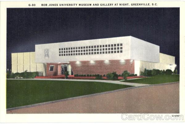 Bob Jones University Museum and Gallery at Night Greenville South Carolina