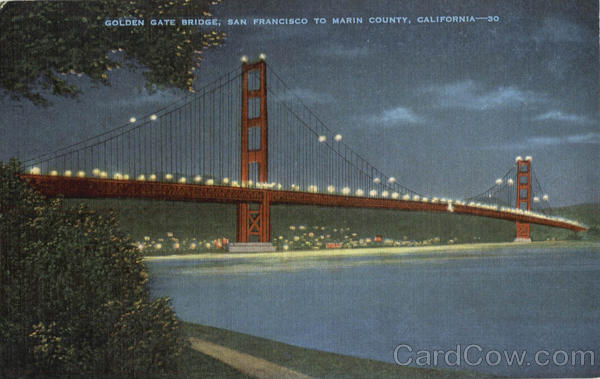 Golden Gate Bridge San Francisco to Marin County California
