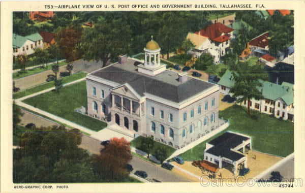 Airplane View of U. S. Post Office and Governent Building Tallahassee Florida