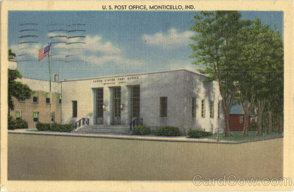U. S. Post Office Monticello Indiana
