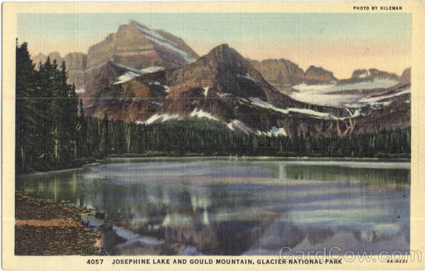 Josephine Lake And Gould Mountain Glacier National Park Montana