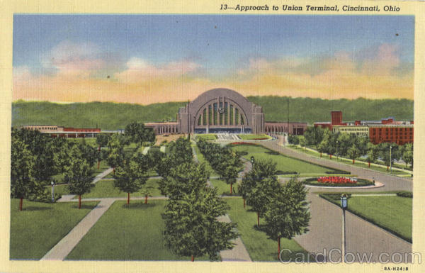 Approach to Union Terminal Cincinnati Ohio