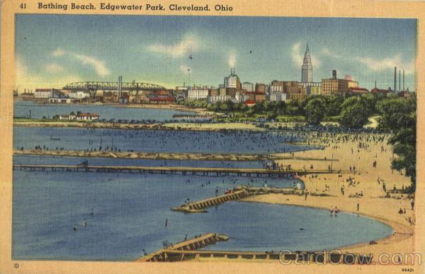 City Of Edgewater >> Bathing Beach, Edgewater Park Cleveland, OH