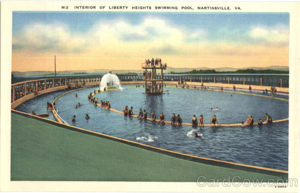 Interior of Liberty Heights Swimming Pool Martinsville Virginia