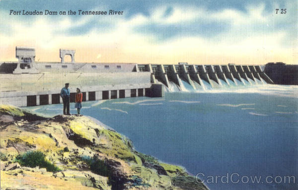 Fort Loudon Dam on the Tennessee River Lenoir City