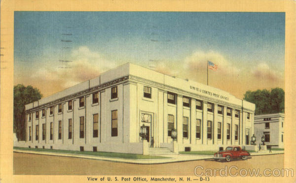 View of U. S. Post Office Manchester New Hampshire