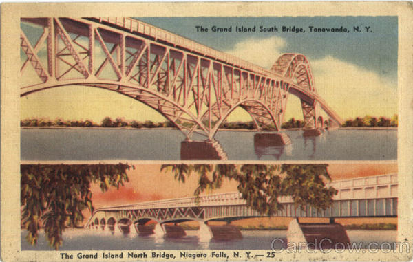 The Grand Island South & North Bridge multi view Tonawanda & Niagara Falls New York