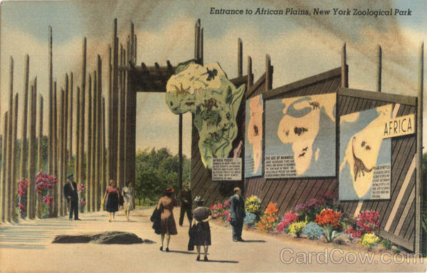 Entrance to African Plains, New York Zoological Park New York City
