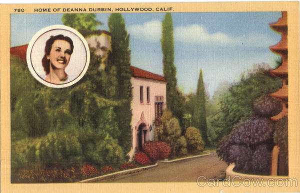 Home of Deanna Durbin Hollywood California Celebrities