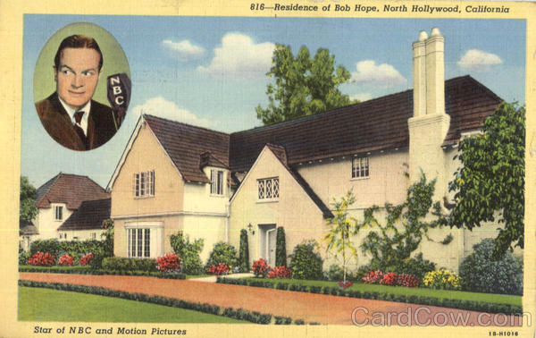 Residence of Bob Hope North Hollywood California Celebrities