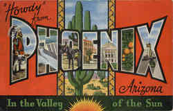 Howdy Greetings From Phoenix Large Letter Postcard