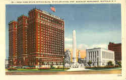New York State Office Bldg, Statler Hotel and Mckinley Monument
