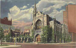 The Fourth Presbyterian Church, North Michigan Avenue and Delaware Place Postcard