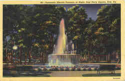 Automatic Electric Fountain at Night, East Perry Square