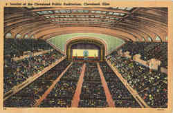 Interior of the Cleveland Public Auditorium