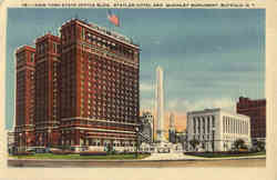 New York State Office Bldg., Statler Hotel and McKinley Monument