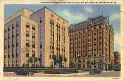 Harrison County Court House and Goff Building Postcard