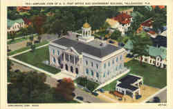 Airplane View of U. S. Post Office and Governent Building Postcard