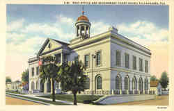 Post Office and Government Court House Postcard