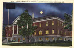 Night-Time Scene of greenville County Court House