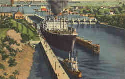 Canal Locks Second to Panama