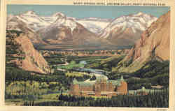 Banff Springs Hotel And Bow Valley