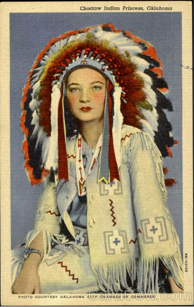 Choctaw Indian Princess Oklahoma Native Americana