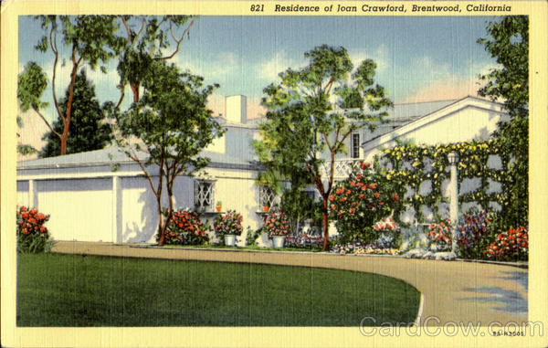 Residence of Joan Crawford Brentwood California