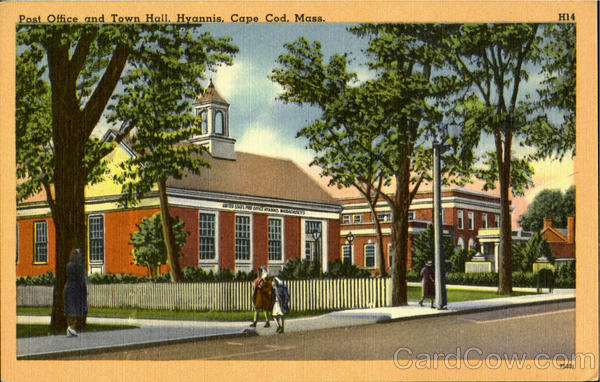 Post Office and Town Hall, Hyannis Cape Cod Massachusetts