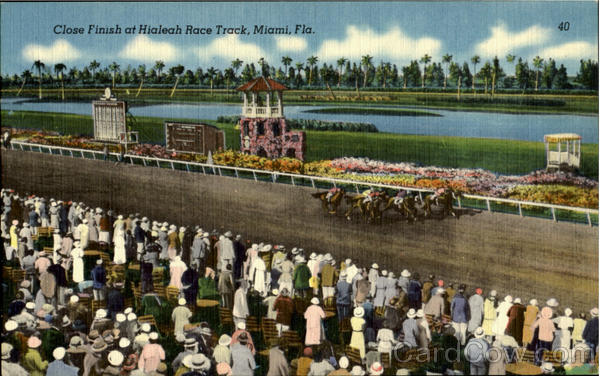 Close Finish, Hialeah Race Track Miami Florida