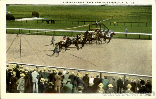 A Start At Race Track Saratoga Springs New York Horse Racing
