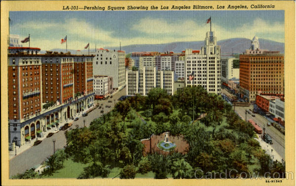 Pershing Square Showing, Los Angeless Biltmore California