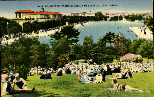 Fleishhacker swimming pool San Francisco California