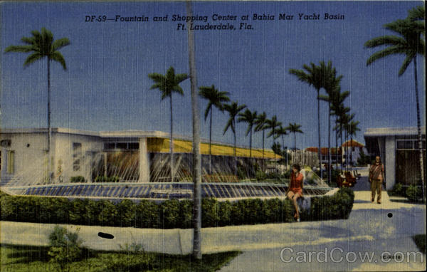 Founted and Shopping Center, Bahia Mar Yacht Basin Fort Lauderdale Florida