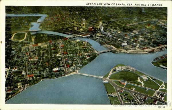 Davis Islands, Aeroplane View Of Tampa Florida