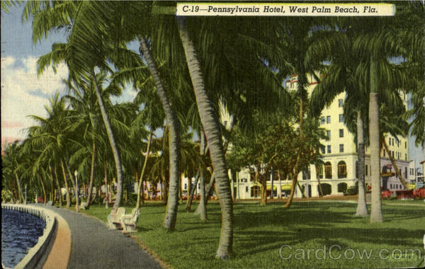 Pennsylvania Hotel West Plam Beach Florida