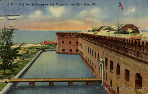 Old Fort Jefferson on Dry Tortugas Key West Florida