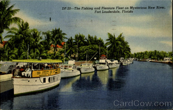 The Fishing and Pleasure Fleet on Mysterrious New River Fort Lauderdale Florida