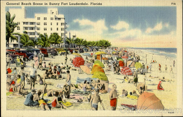 General Beach Scene in Sunny Fort Lauderdale Florida