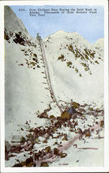 Over Chilkoot Pass During the Gold Rush