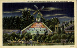 The rapids at Old Mill, Idora Park at Night