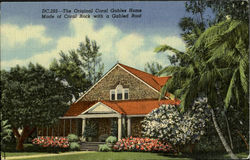 The Original Coral Gables Home Made of Coral Rock with a Gabled Root