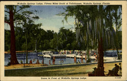 Wakulla Springs Lodge Scene in Front of Wakulla Springs Lodge